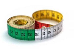Maßband zum messen der Penis Größe und Dicke